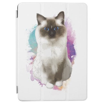 Sitting cat iPad air cover