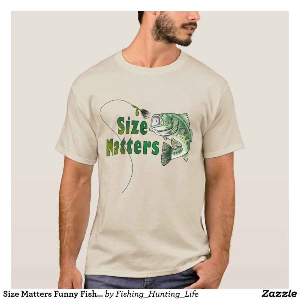 Size Matters Funny Fishing T-Shirt