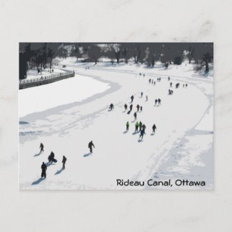 Skating on the Rideau Canal - Postcard postcard