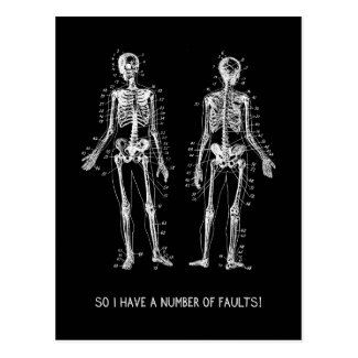 Skeleton Questions for Halloween Post Cards