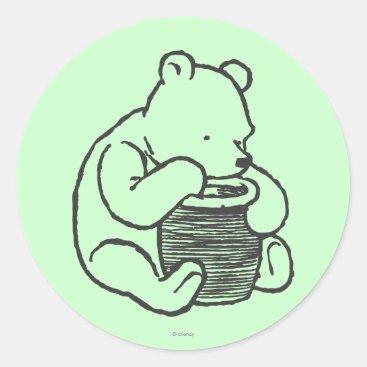 Sketch Winnie the Pooh 3 Classic Round Sticker