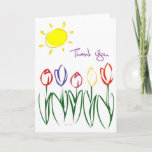 ❤️ Sketched Tulip Thank You Card