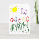 Sweet & Fun Sketched Tulips Spring Thinking Of You card