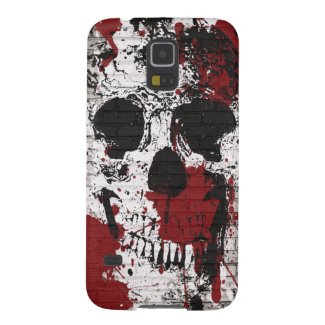 Skull Red Paint Splatter Graffiti Galxay5 Case