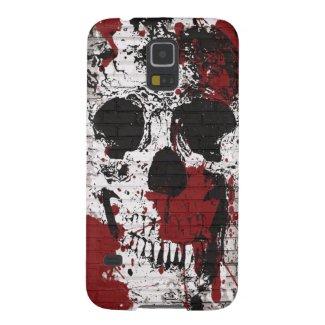 Skull Red Paint Splatter Graffiti Galxay5 Case
