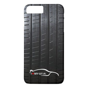 Skyline GT-R with Tire Tread iPhone 8 Plus/7 Plus Case