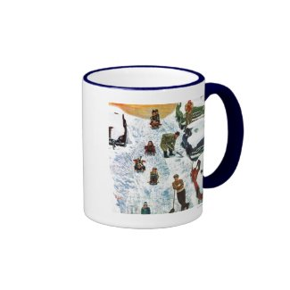 Sledding and Digging Out Coffee Mug