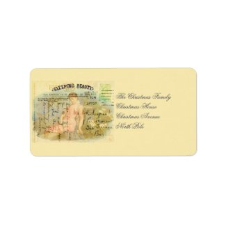 Sleeping Beauty Custom Address Labels