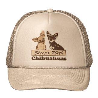 Sleeps With Chihuahuas Mesh Hats