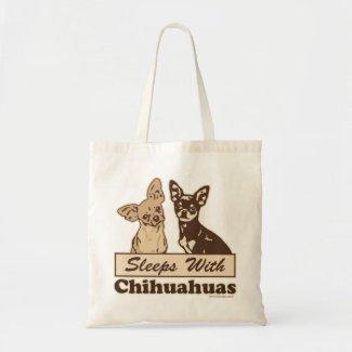 Sleeps With Chihuahuas Tote Bag