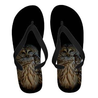 Sleepy Owl Flip Flops