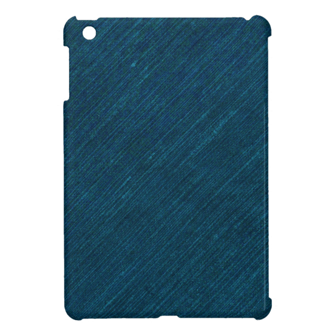 Slightly Rumpled Dark Denim iPad Mini Cases