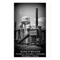 SLOSS FURNACES - National Historic Landmark Postcard | Zazzle