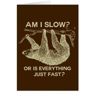 Sloth am I slow? Cards