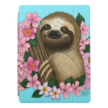 Sloth and Flowers iPad Pro Cover