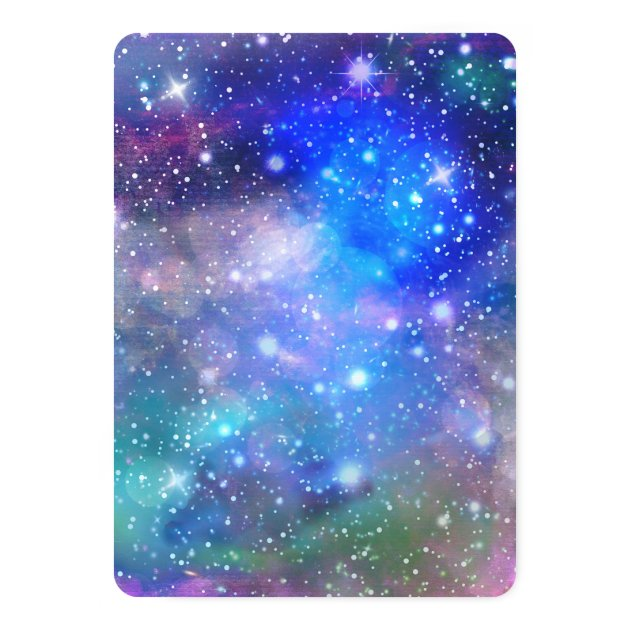 SLUMBER PARTY Space Galaxy Birthday Invitations Zazzle