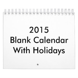 Blank Calendars and Blank Wall Calendar Template Designs