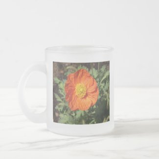 Small Orange Poppy Mug mug
