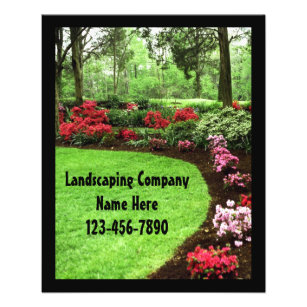 landscaping flyers zazzle