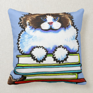 Ragdoll Cat Throw Pillows These Decorative Cat Pillows