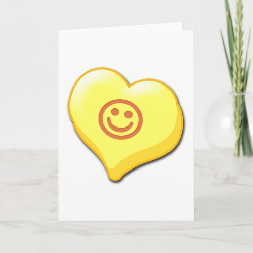 Smile Candy Heart Holiday Card