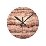 Smokey grey granite round clock