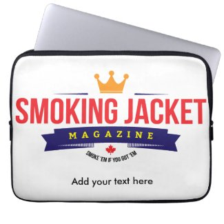 "Smoking Jacket Magazine 13"" Laptop Bag"