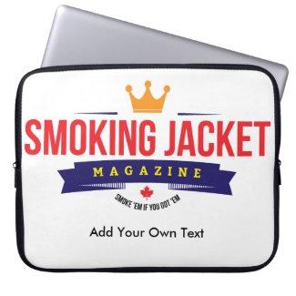 """Smoking Jacket Magazine 15"""" Laptop Bag"""