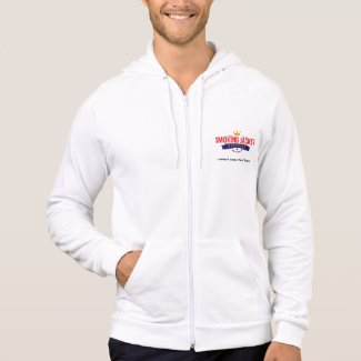Smoking Jacket Magazine Fleece Zip Hoodie