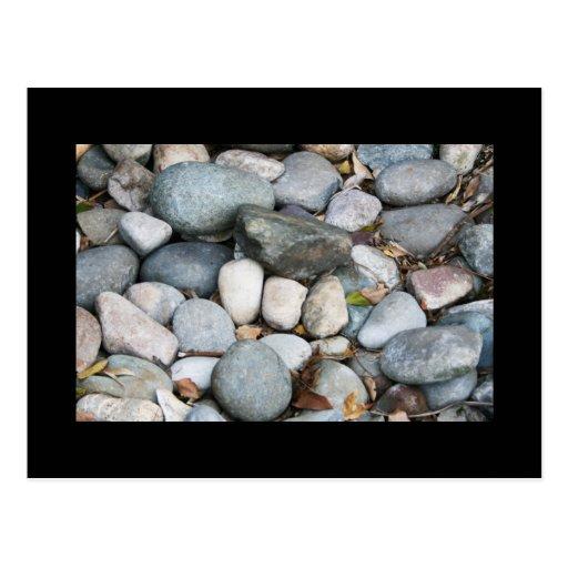 smooth landscape rocks postcard