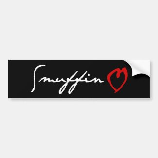 Smuffin Love Bumper Sticker Car Bumper Sticker