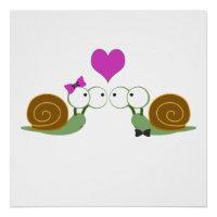 Snail Love Poster