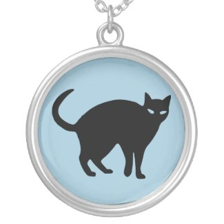 Sneaky Shadow Cat Pendant Necklace