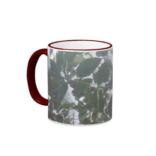 Snow Covered Holly mug