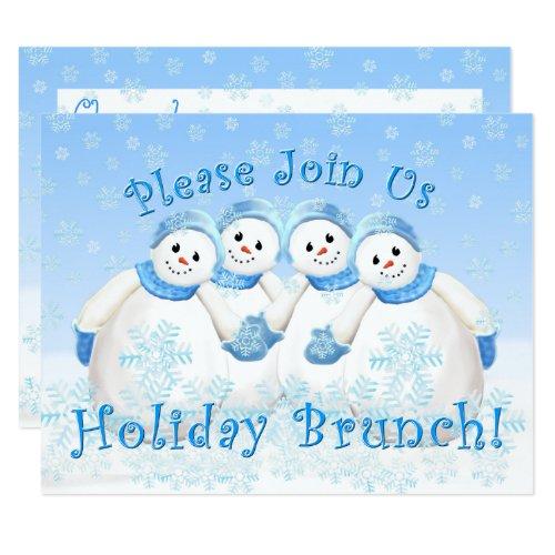 Snow Girls Holiday Brunch Invitations