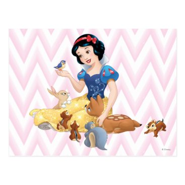 Snow White and the Forest Animals Postcard
