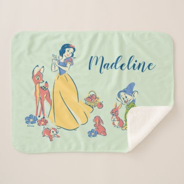 Snow White & Dopey with Friends Sherpa Blanket