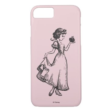 Snow White | Holding Apple - Elegant Sketch iPhone 8/7 Case