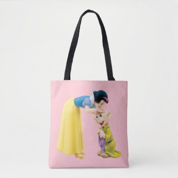 Snow White Kissing Dopey on the Head Tote Bag