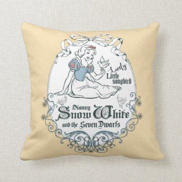 Snow White | Lovely Little Songbird Throw Pillow