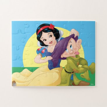 Snow White Sitting With Dopey Jigsaw Puzzle