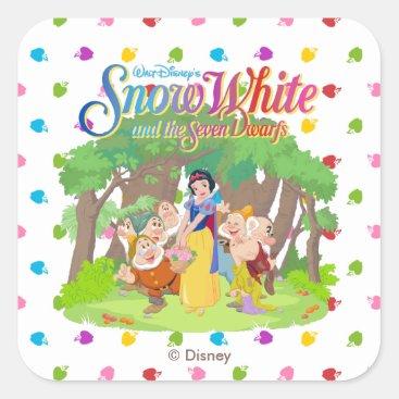 Snow White & the Seven Dwarfs | Wishes Come True Square Sticker
