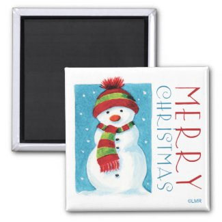 Snowman | Merry Christmas Novelty Magnets magnet