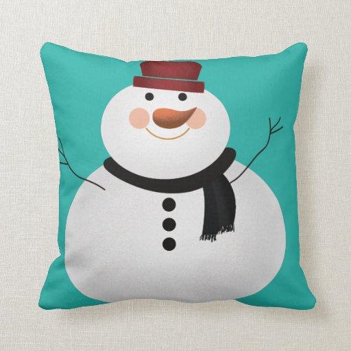 Snowman Pillow  Zazzle