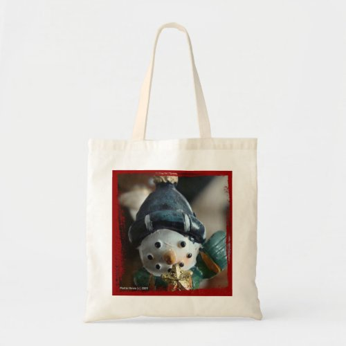 Snowman Tote Bag bag