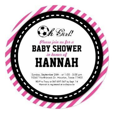 Soccer Girl Baby Shower Invitation