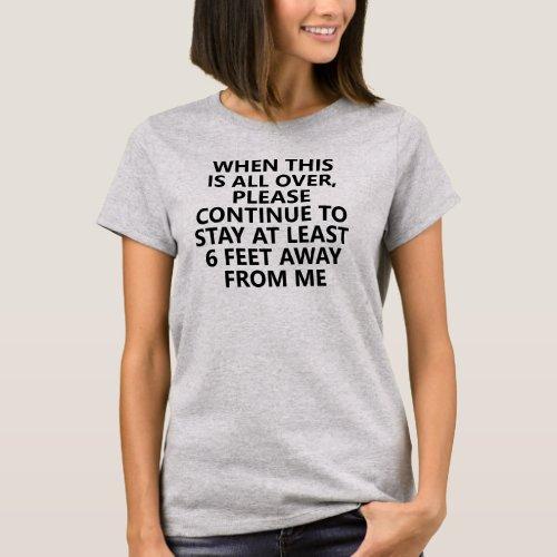 Social Distance Introvert Humor Light T-Shirt