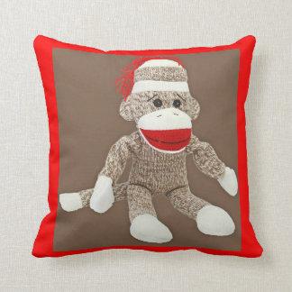 sock monkey pillow