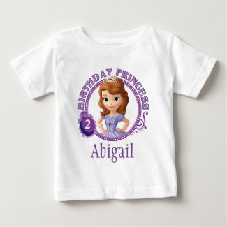 Sofia the First | Personalized Birthday Baby T-Shirt