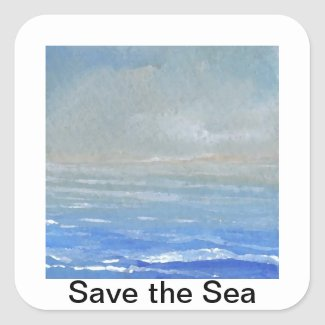 Soft Light Save the Sea Ocean Sticker zazzle_sticker